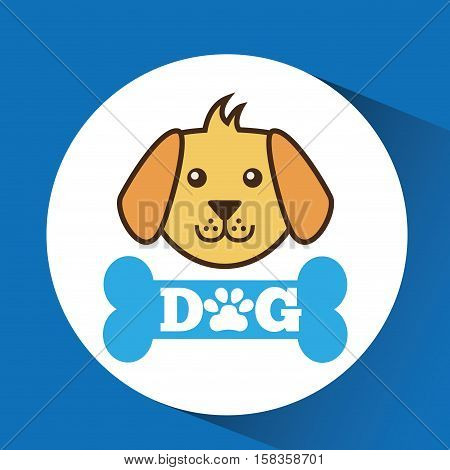 lovely face puppy dog vector illustration eps 10