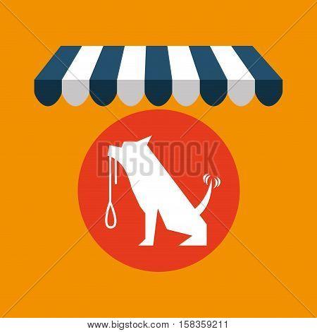 pet shop with dog training vector illustration eps 10