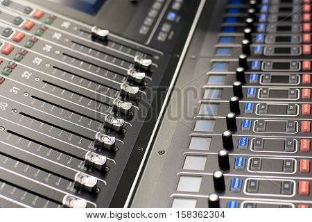 Sound, music console for dj or sound Director