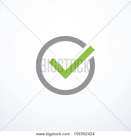 Vector tick icon. Chek mark icon. Vector illustration