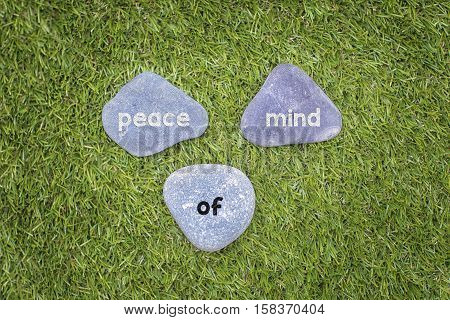 Three stone with peace of mind concept.