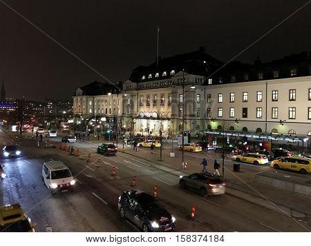 STOCKHOLM - NOVEMBER 22: Stockholm Central Train Station on November 22, 2016 in Stockholm, Sweden.
