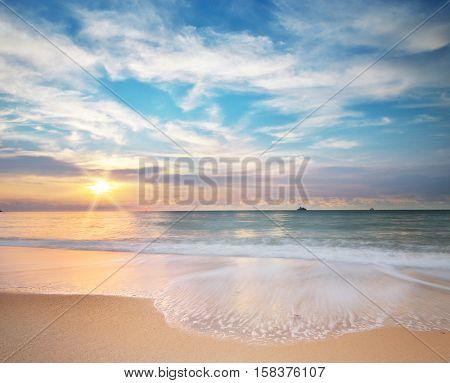 Pamorama of beautiful seascape. Nature composition.