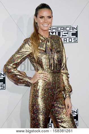 Heidi Klum at the 2016 American Music Awards held at the Microsoft Theater in Los Angeles, USA on November 20, 2016.