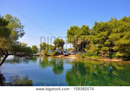 Beautiful nature natural photo of Skiathos lanscape