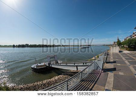 Shipping on the Rhine near Emmerich Germany