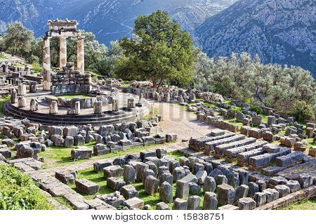 Temple Of Athina In Delphi