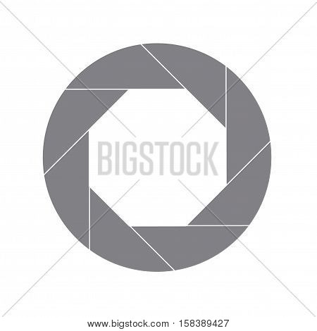 Sixty Percent Gray Shutter Icon Isolated on White