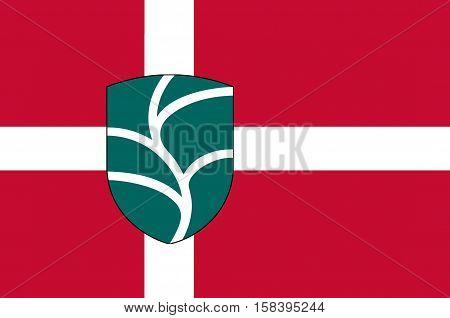 Flag of Favrskov in Central Jutland Region in Denmark
