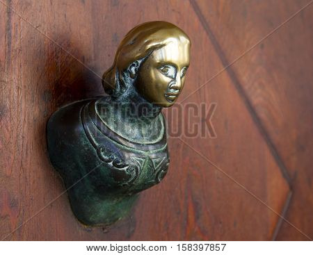 bas-relief bronze sculpture decoration on the wall