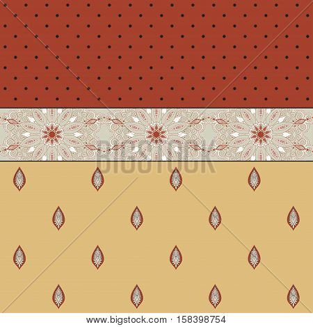 Abstract vector background. Two simple background and border. Oriental pattern and decorative items. Ample opportunities for use. Easily edit the colors.