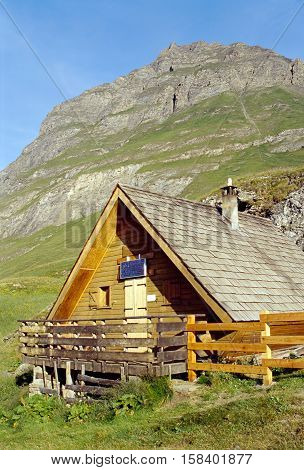Wooden Mountain chalet in the vanoise national park savoy france