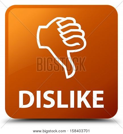 Dislike (thumbs down icon) brown square button