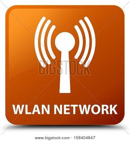 Wlan network (antenna icon) brown square button
