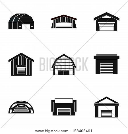 Garage icons set. Simple illustration of 9 garage vector icons for web