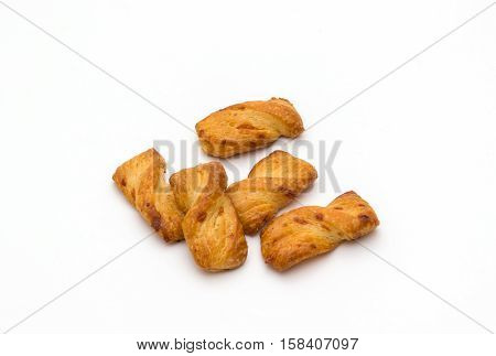 crispy breadsticks isolated on a white background