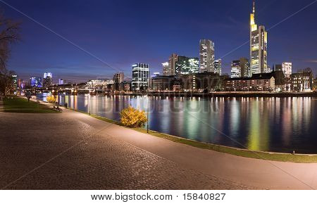 Panorama Of River And Frankfurt