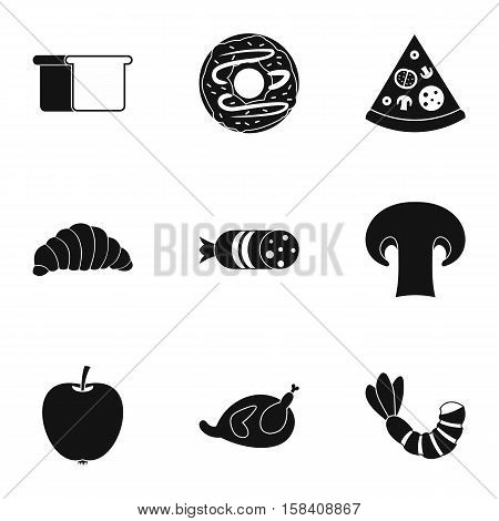 Food in morning icons set. Simple illustration of 9 food in morning vector icons for web