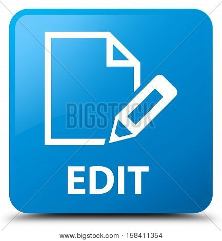 Edit (edit pencil icon) cyan blue square button