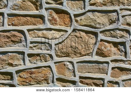Fragment of an Old Stone Wall Background