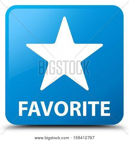 Favorite (star icon) cyan blue square button