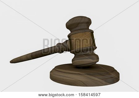 A hammer for law and order (3d rendering)