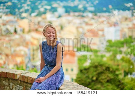 Young Girl On Le Suquet Hill In Cannes