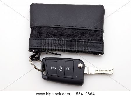 car keys isolated on a white background