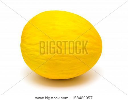 sweet honeydew melon isolated on white background