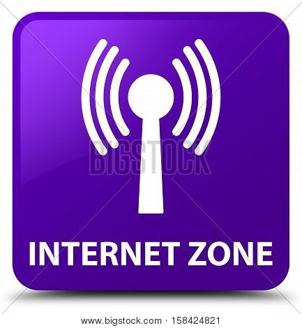 Internet Zone (wlan Network) Purple Square Button