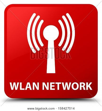 Wlan network isolated on abstract red square button