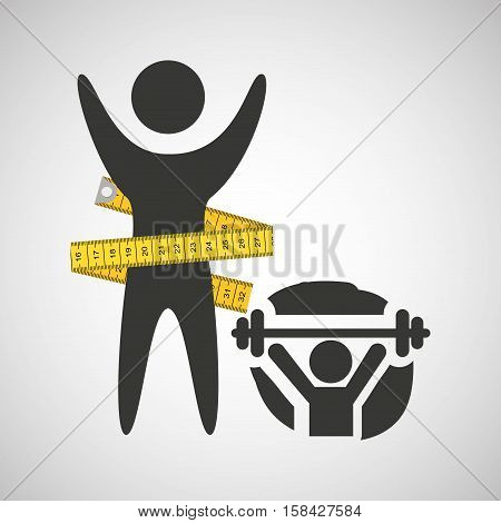 lose weight concept weight lifting vector illustration eps 10
