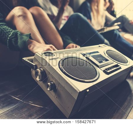 Radio Music Friends Unity Style Teens Casual