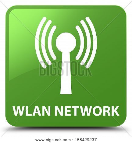 Wlan network on soft green square button