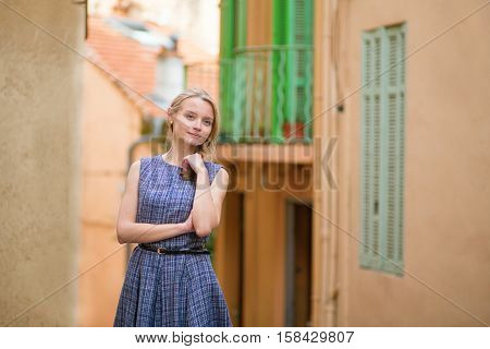 Woman On Le Suquet Hill In Cannes