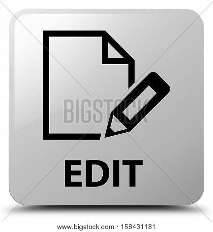 Edit (edit pencil icon) white square button