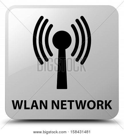 Wlan network (signal icon) white square button