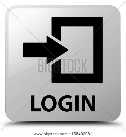 Login (arrow and box icon) white square button