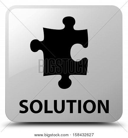 Solution (puzzle icon) on white square button