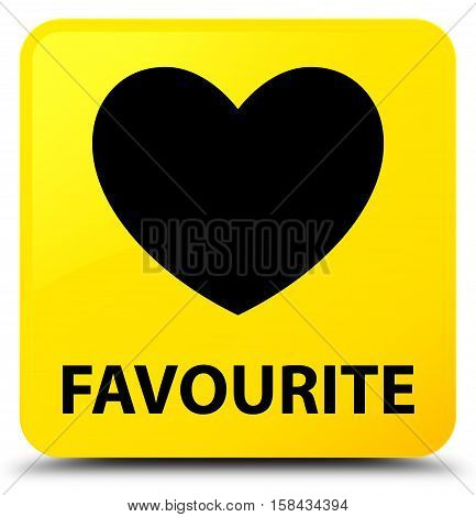 Favourite (heart icon) on yellow square button