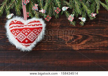 Christmas, Xmas, New Year, Background, Holiday, Decoration, Christmas Tree, Heart, Cone, Celebration