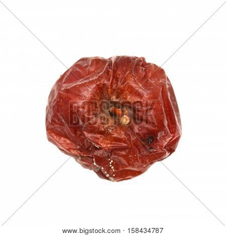 Red rotten apple, natural color and texture