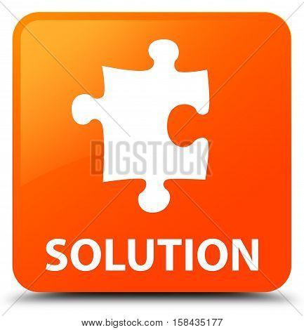 Solution (puzzle icon) on orange square button