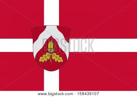 Flag of Odder in Central Jutland Region in Denmark.