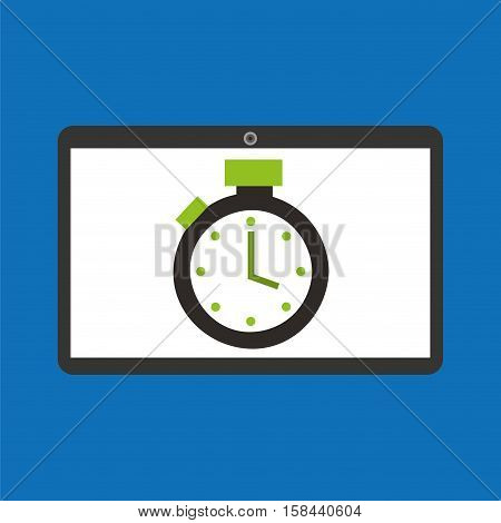 sport laptop app concept chronometer vector illustration eps 10
