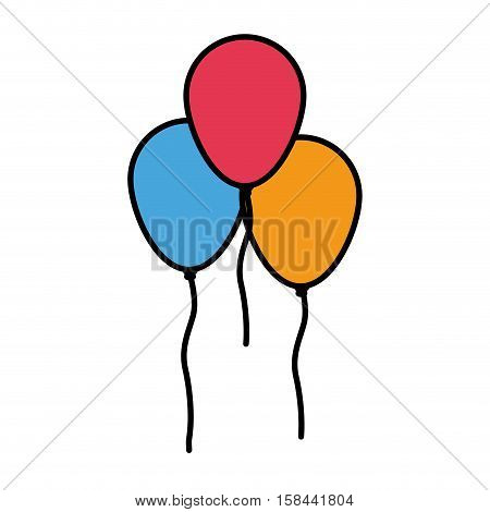 Ballloon icon. Happy birthday celebration decoration and party theme. Isolated design. Vector illustration