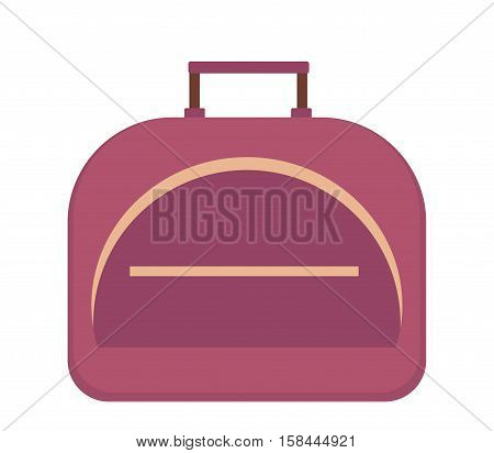 Sports bag icon flat style. Gym bag isolated on white background. Vector illustration