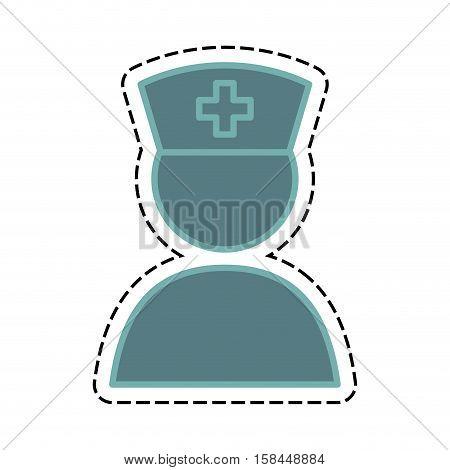 nurse medical service icon vector illustration graphic design