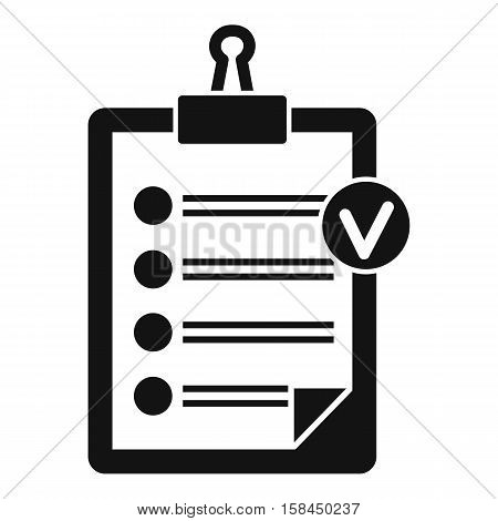 Check list icon. Simple illustration of check list vector icon for web