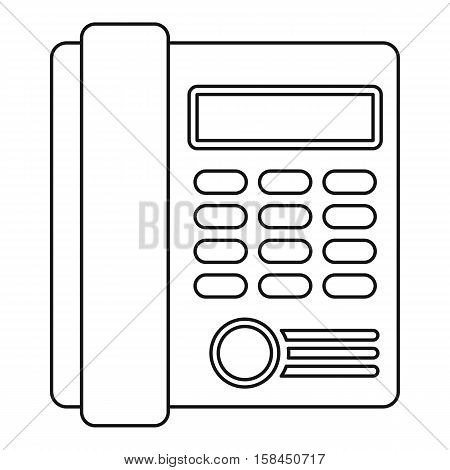 Telephone icon. Outline illustration of telephone vector icon for web